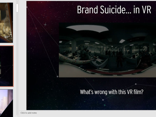 Brand Suicide in Virtual Reality — What Ad Agencies need to know about VR - Part II