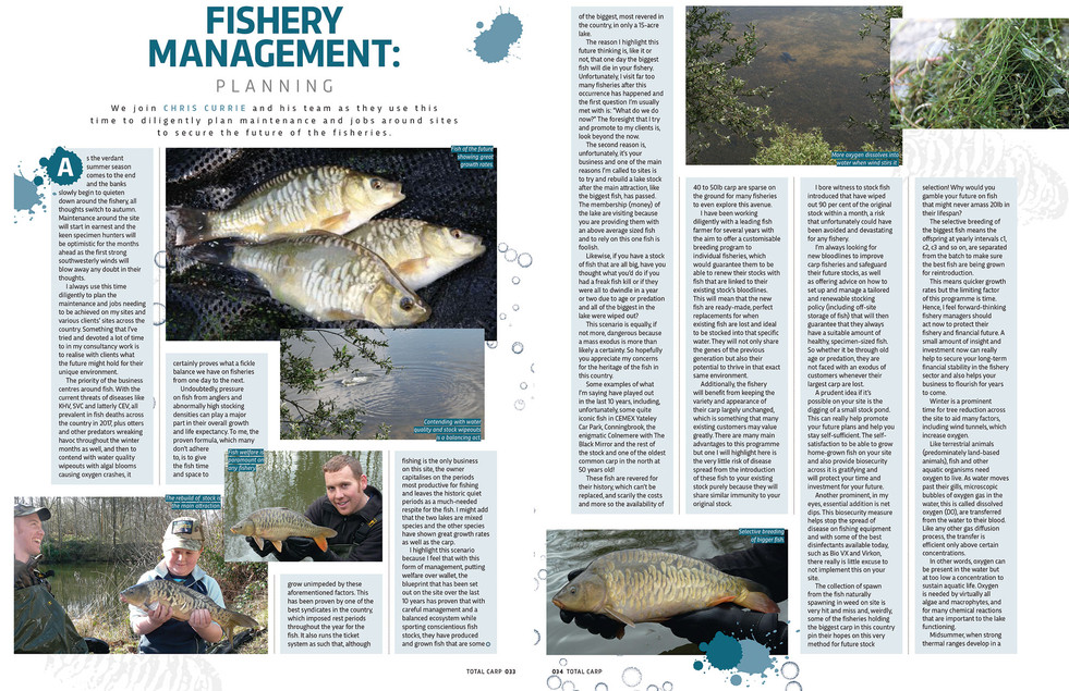 FISHERY MANAGEMENT PLANNING