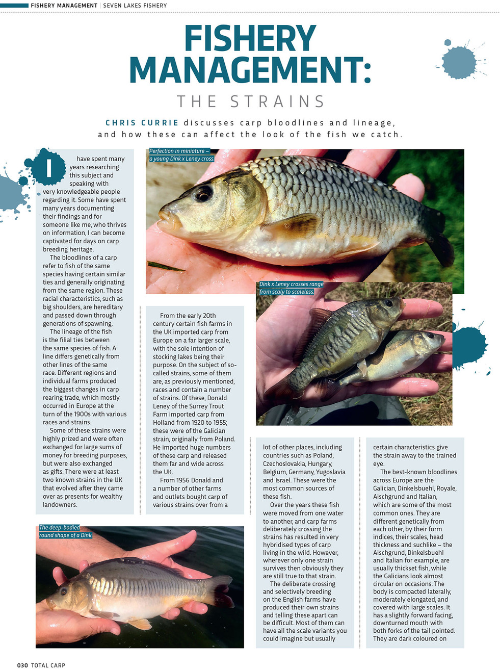 FISHERY MANAGEMENT THE STRAINS