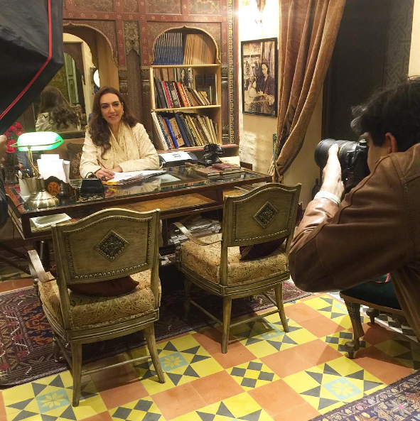Behind the scenes at an exclusive interview photo-shoot for OK! Pakistan (photo credit: Studio Avant Garde)