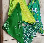St. Patrick's Day - yellow/green, bandana, shamrocks, snoopy joe cool