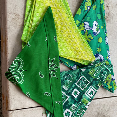 St. Patrick's Day - yellow/green, bandana, shamrocks, snoopy joe cool