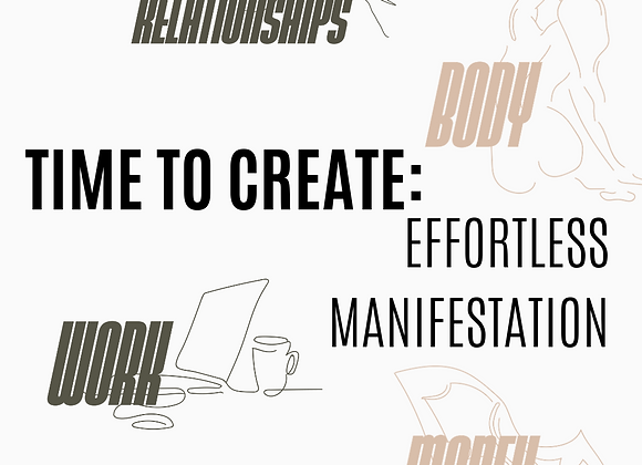 WORKBOOK: EFFORTLESS MANIFESTATION