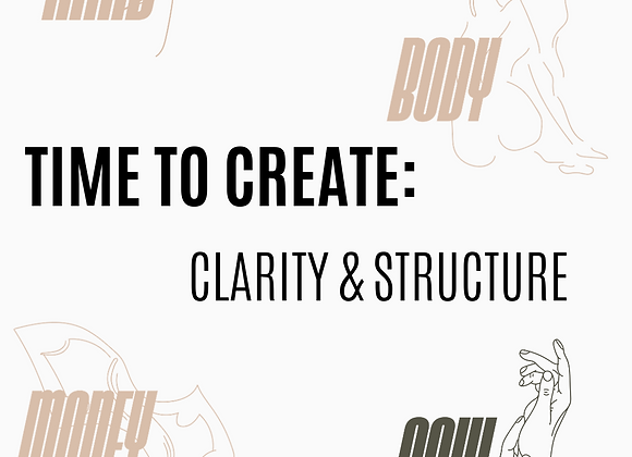 WORKBOOK: CLARITY & STRUCTURE