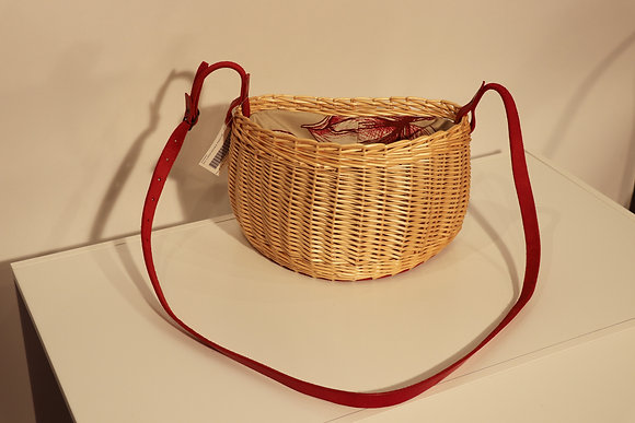 Sac à bandoulière - Intérieur en tissu rouge