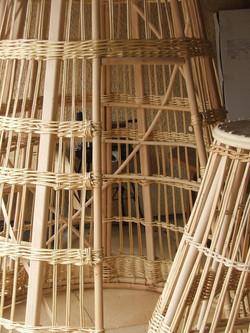 Structure géant en rotin