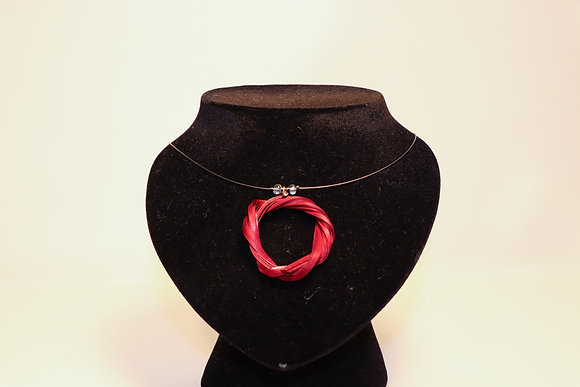 Pendentif rond rouge