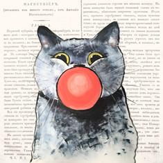 Кот в стиле поп-арт