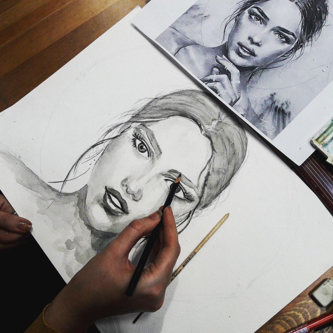 Графика и реалистичный портрет (9)
