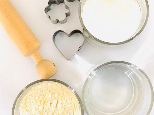 Stimolazione sensoriale con la pasta di sale