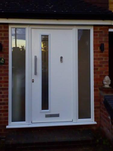 GRP Composite Door with sidelights