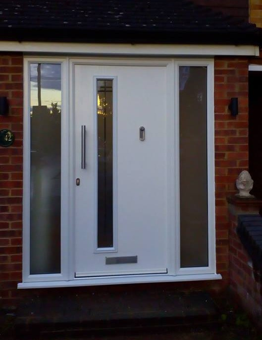 GRP Composite Door with sidelights