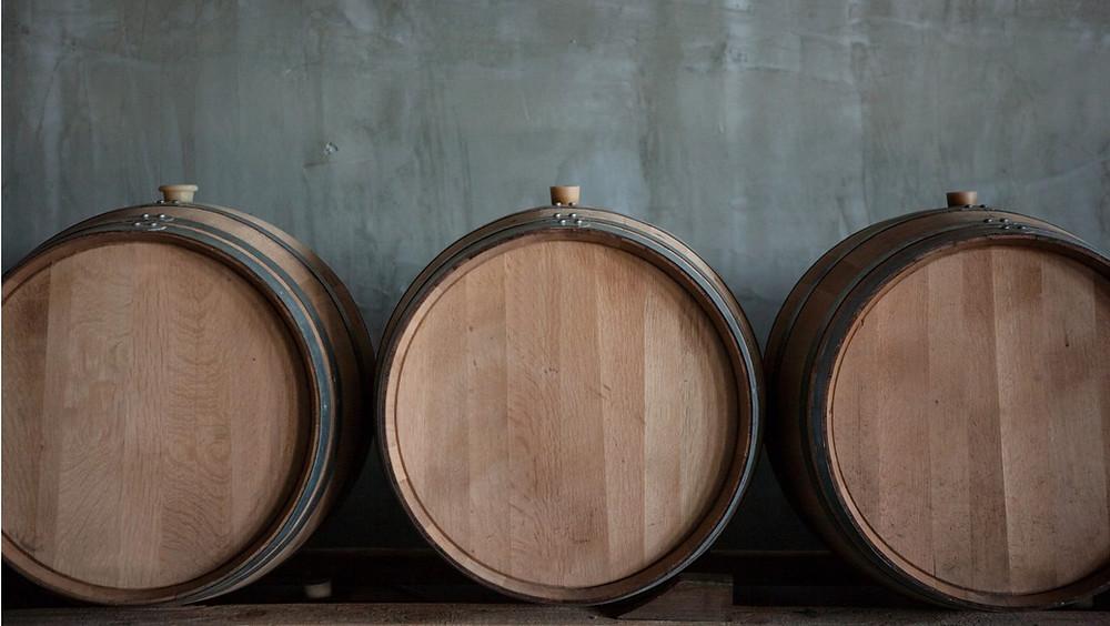 wine barrels for aging
