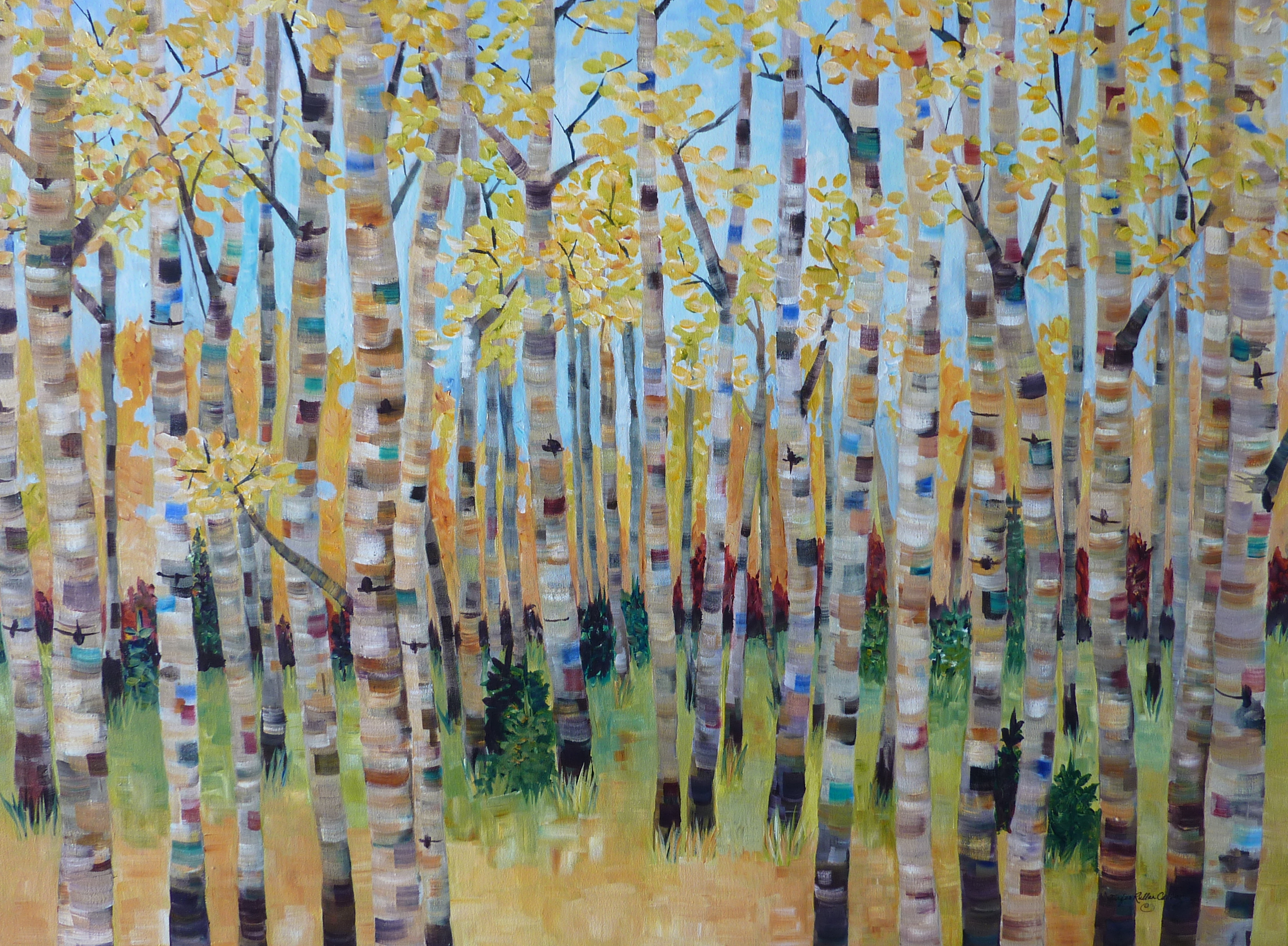 """Walk in the Woods"" 30 X 40"""