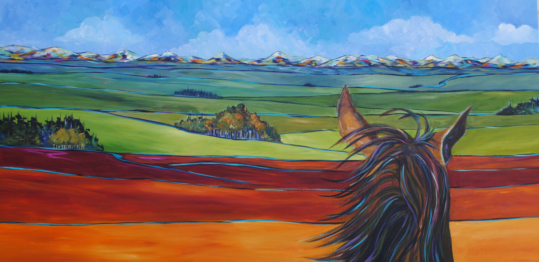 "The Mane Way Home 30 x 60"" 2015"