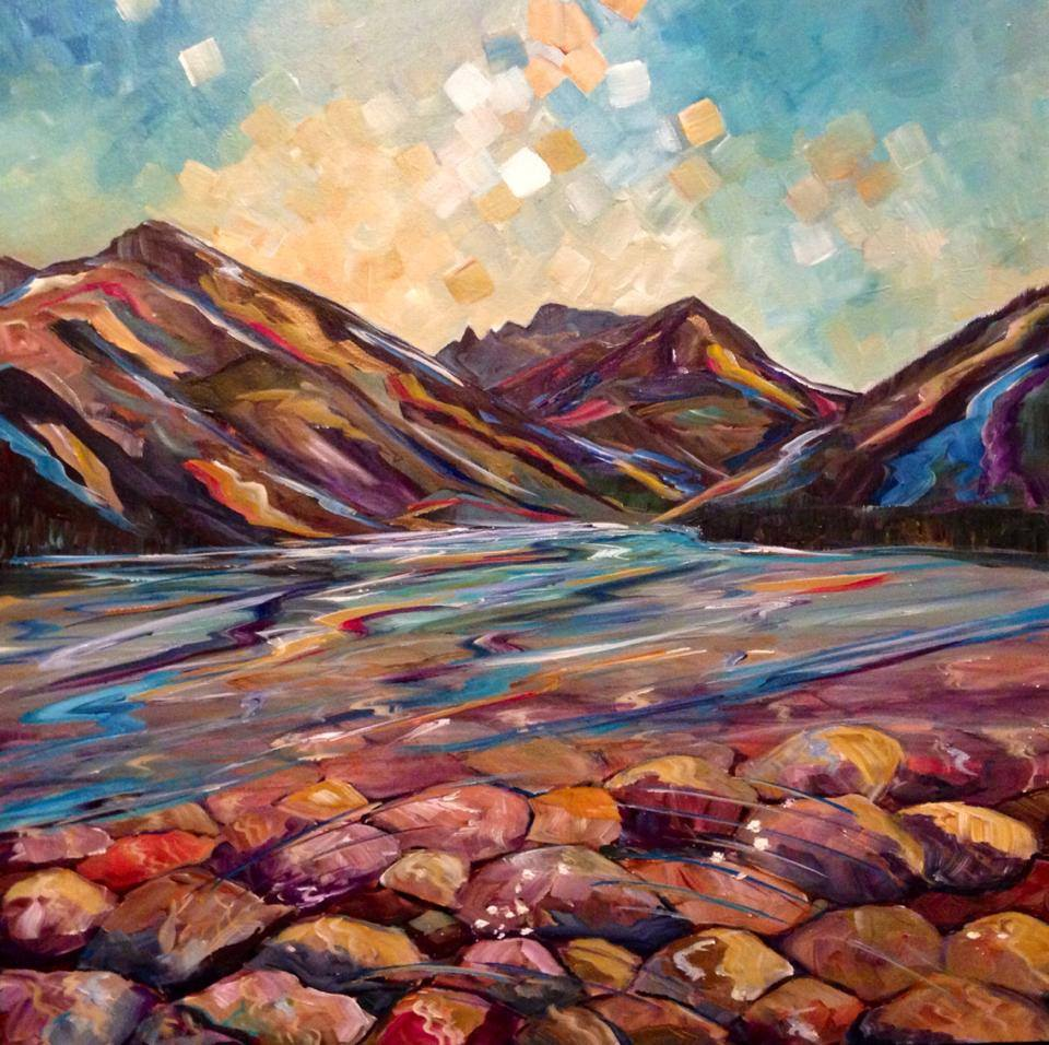 Waterton Walk  18 X 18""