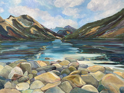 Waterton Rocks: View from the Campground
