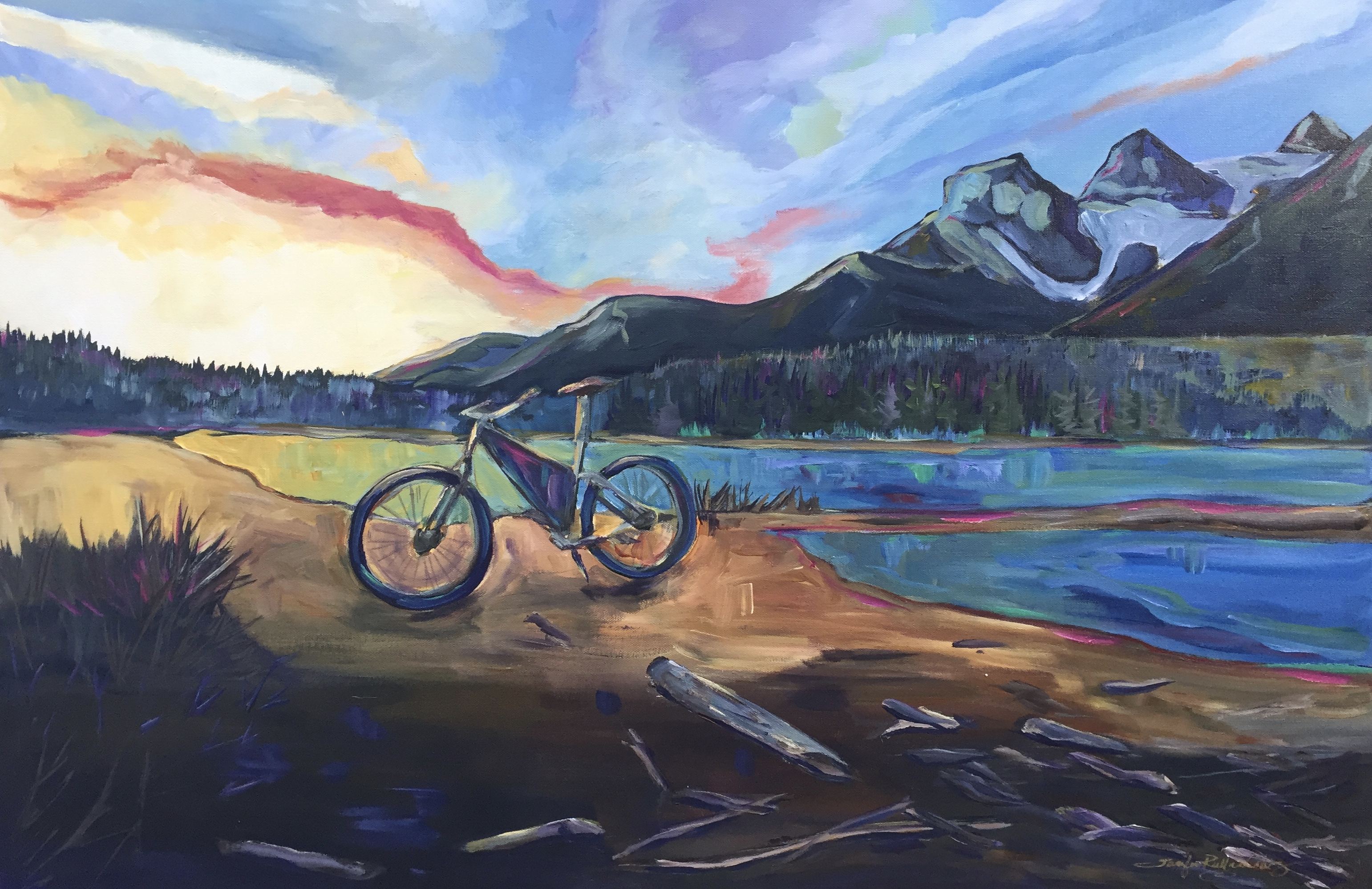 "Sunrise Ride 24 X 36"" sold"