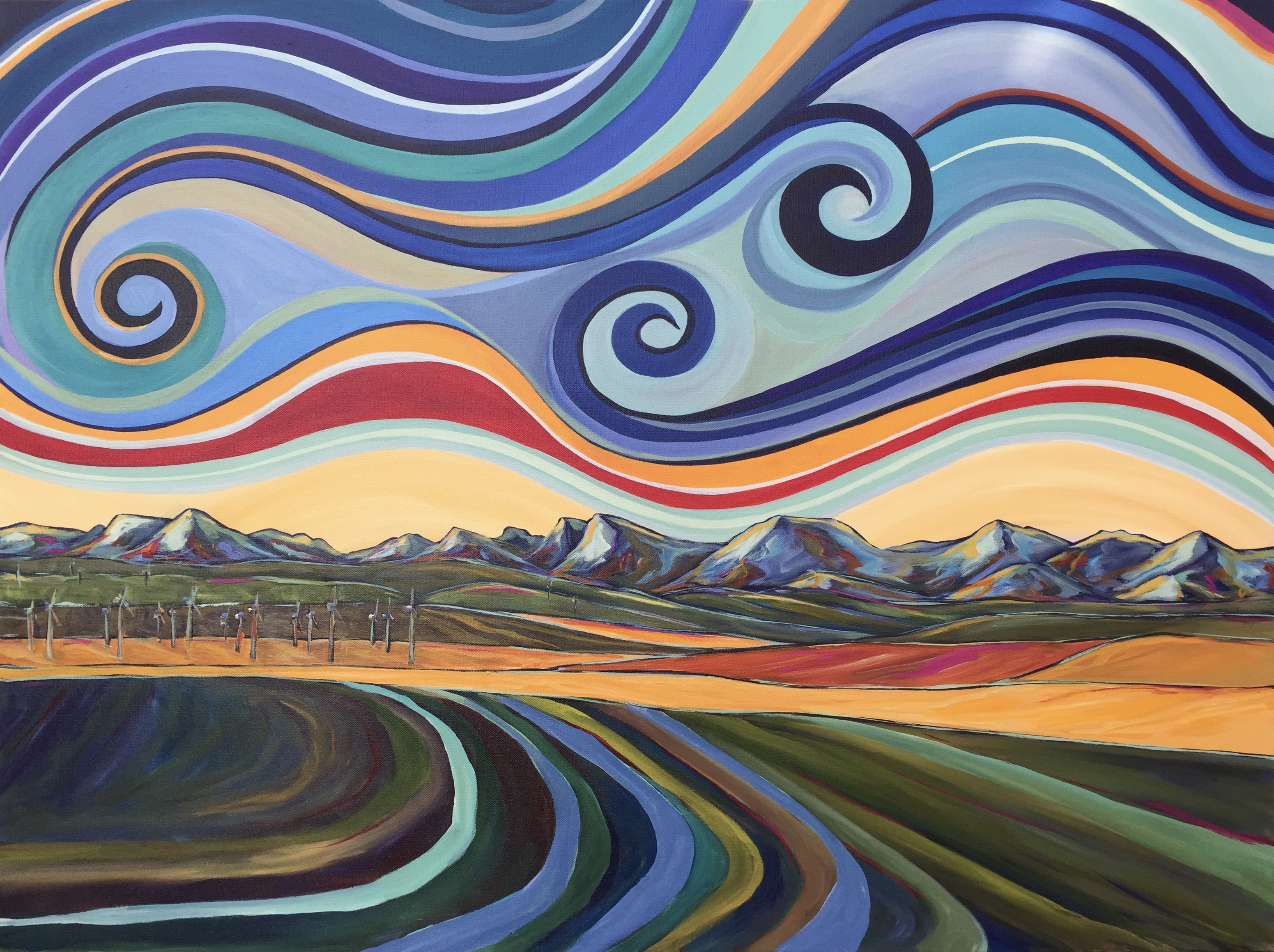 "Earth Wind & Sky 30 X 40"" SOLD"