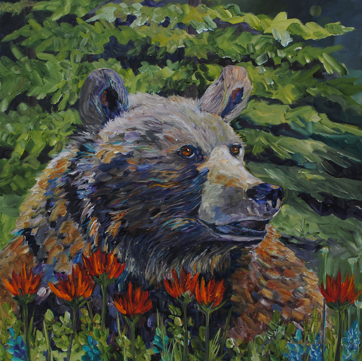 Paintbrush Grizz 2015 24 X 24""