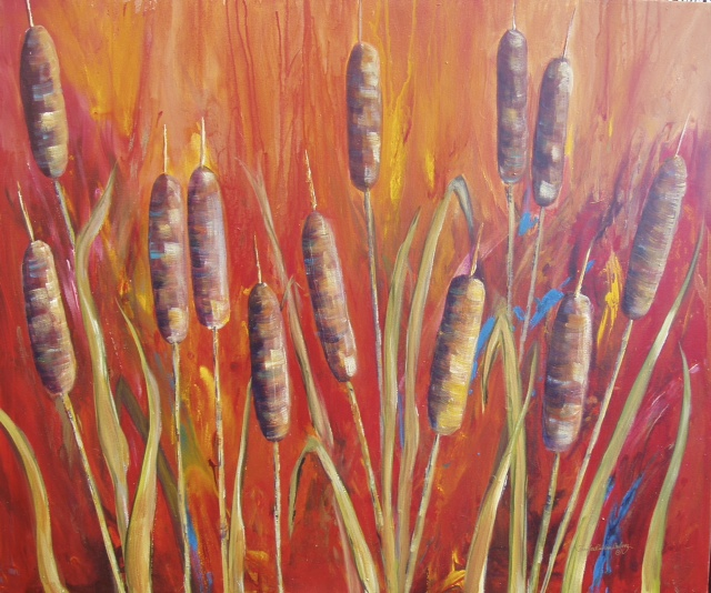 """Cattails"" 36 X 40"""