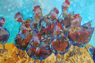 "Flockmates  20 x 24"" sold"