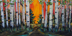 """Out of the Woods 10 X 20"""" plus frame 2015"""