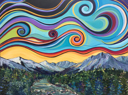 """Journey to the Hill 36 X 48"""" SOLD"""