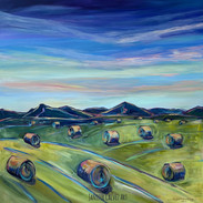 """Haybales for Miles 2.  30 X 30"""""""