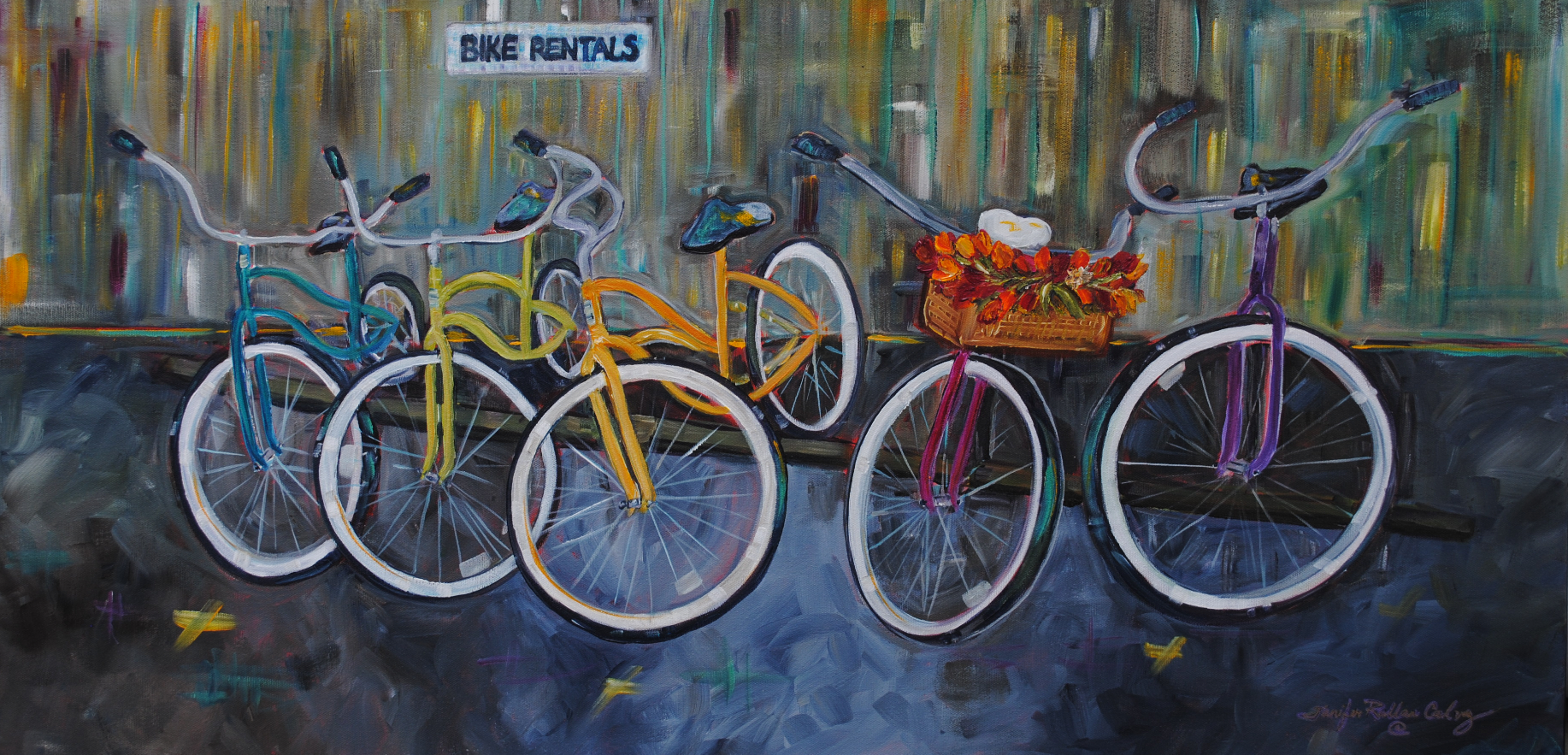 """Tofino Bike Rentals 2015 18 X 36"""""""