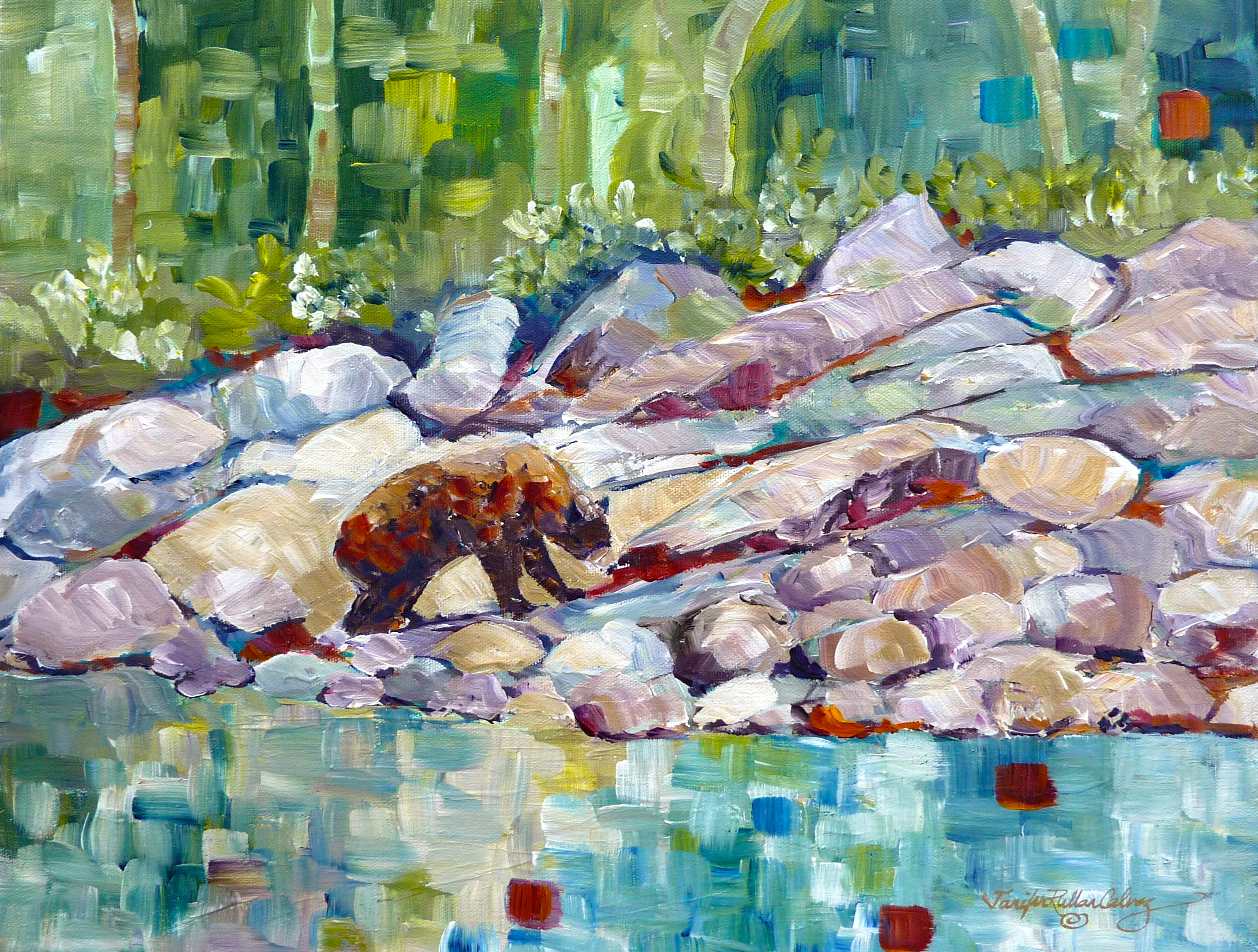 """Waterton Bear"" 14 X 18"""