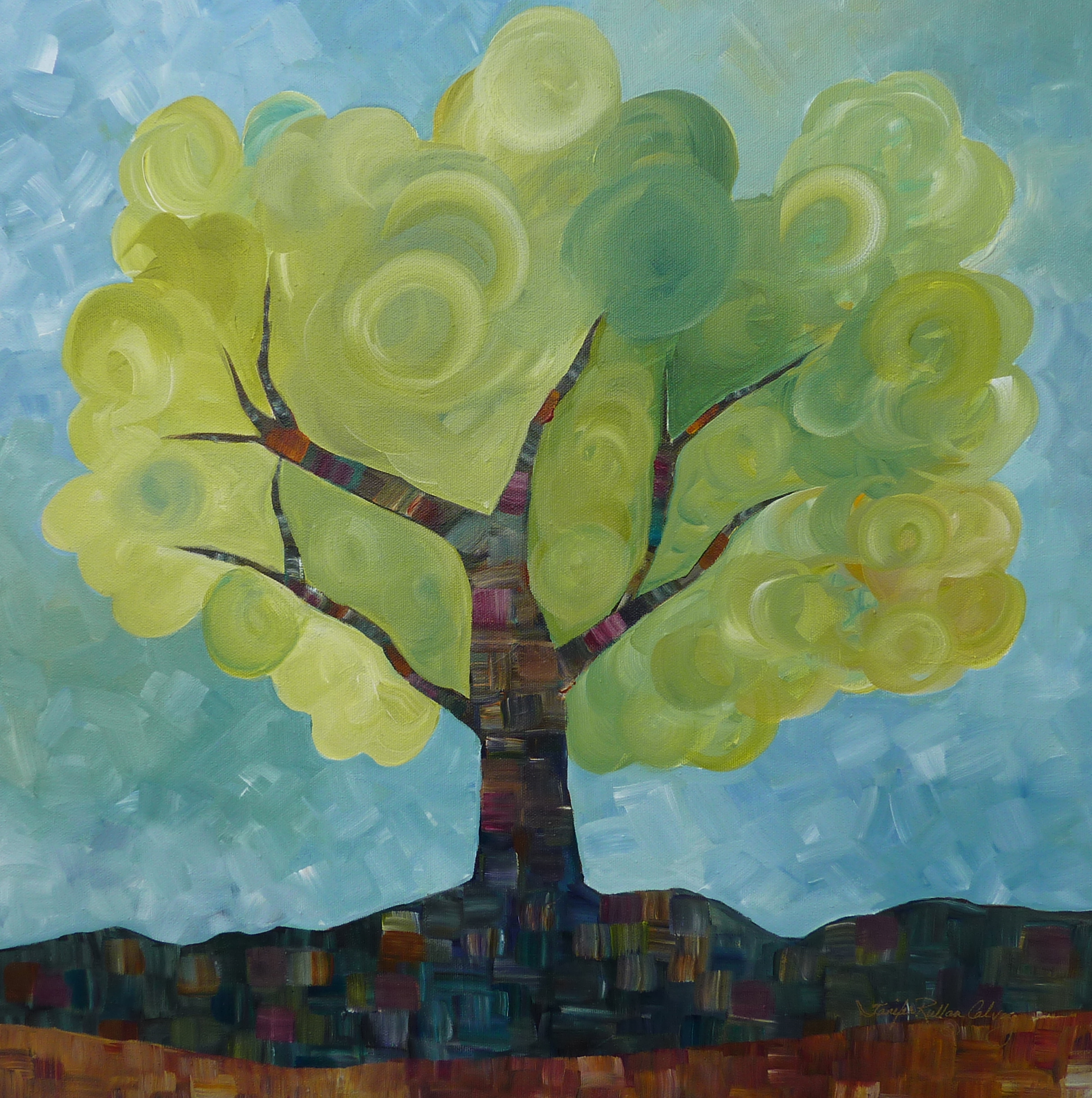 """Tree Whimsy"" 20 X 20"""