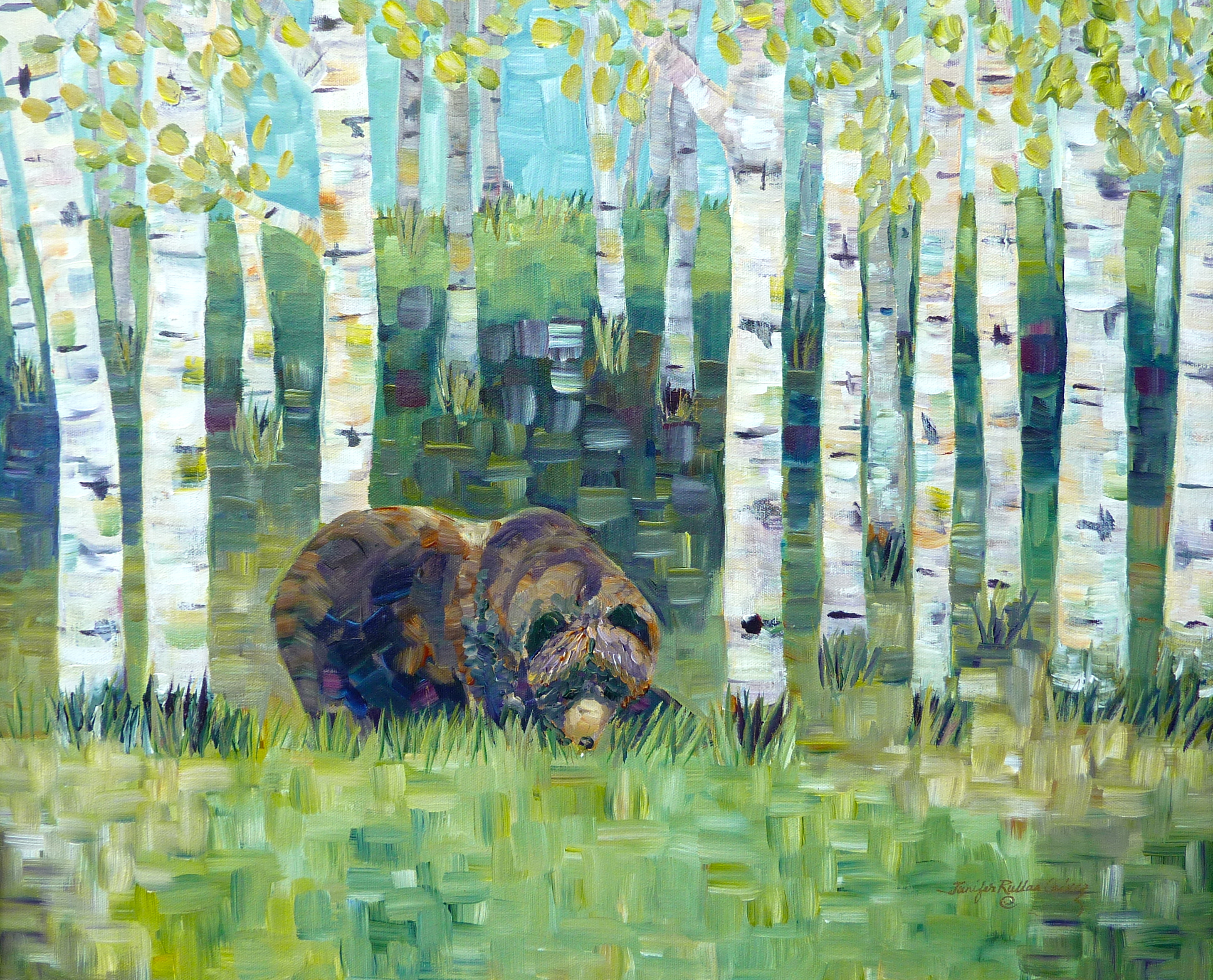"""Grizzly in the Woods"""