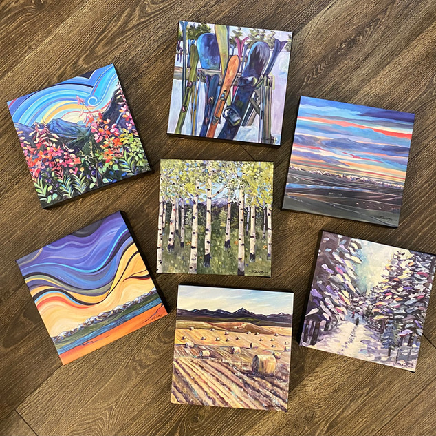 "8 X 8"" Canvas prints @$65 each"