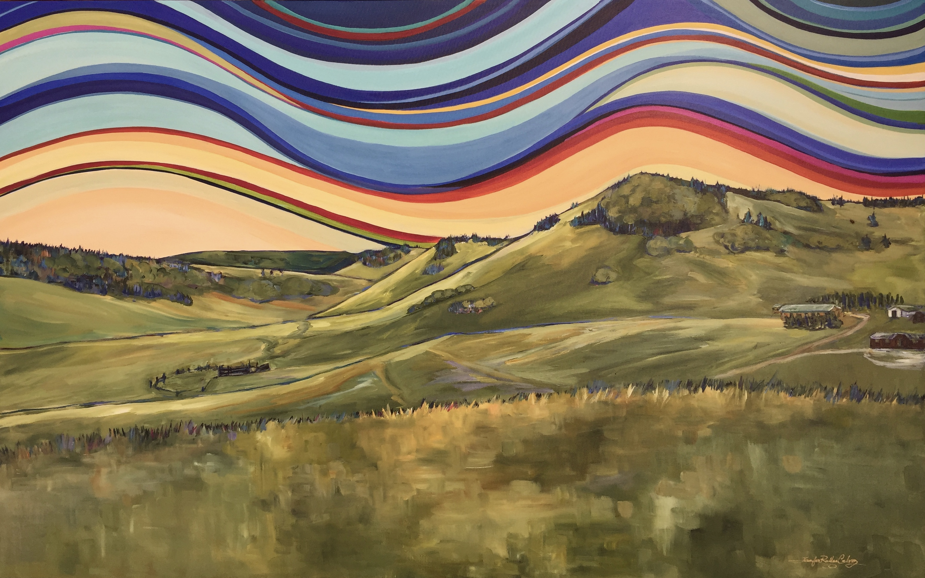 "Porcupine Hills 30 X 48"" commission"