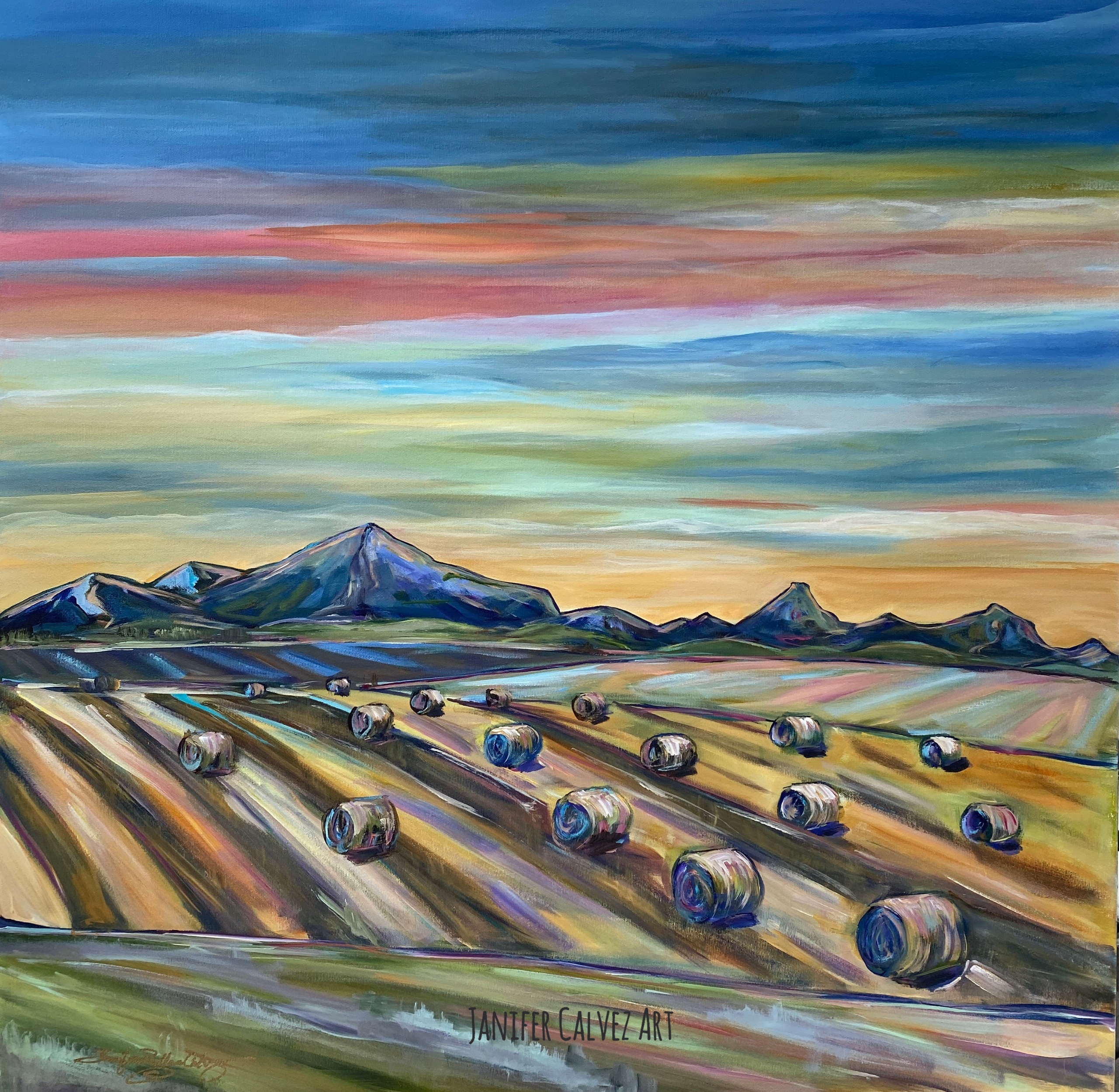 "Harvest Skies 30 X 30"" SOLD"