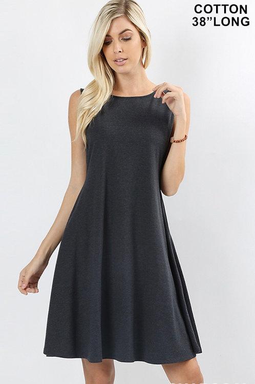 Charcoal Swing Dress