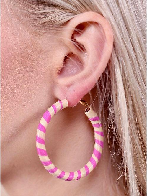 Beach Raffia Wrapped Earrings