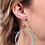 Thumbnail: Teal Round Glitter Fish Hook Earrings