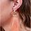 Thumbnail: Peachy Post Fringe Drop Earrings