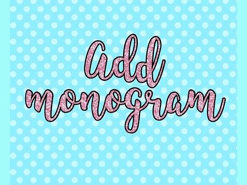 Add On A Monogram