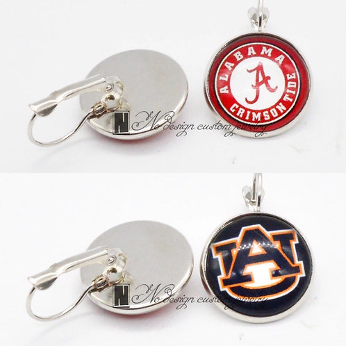 Alabama or Auburn Earrings