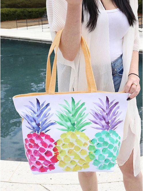 Pineapple Party Beach Tote