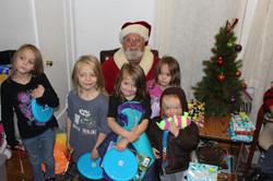 Kiddos Visit with Santa