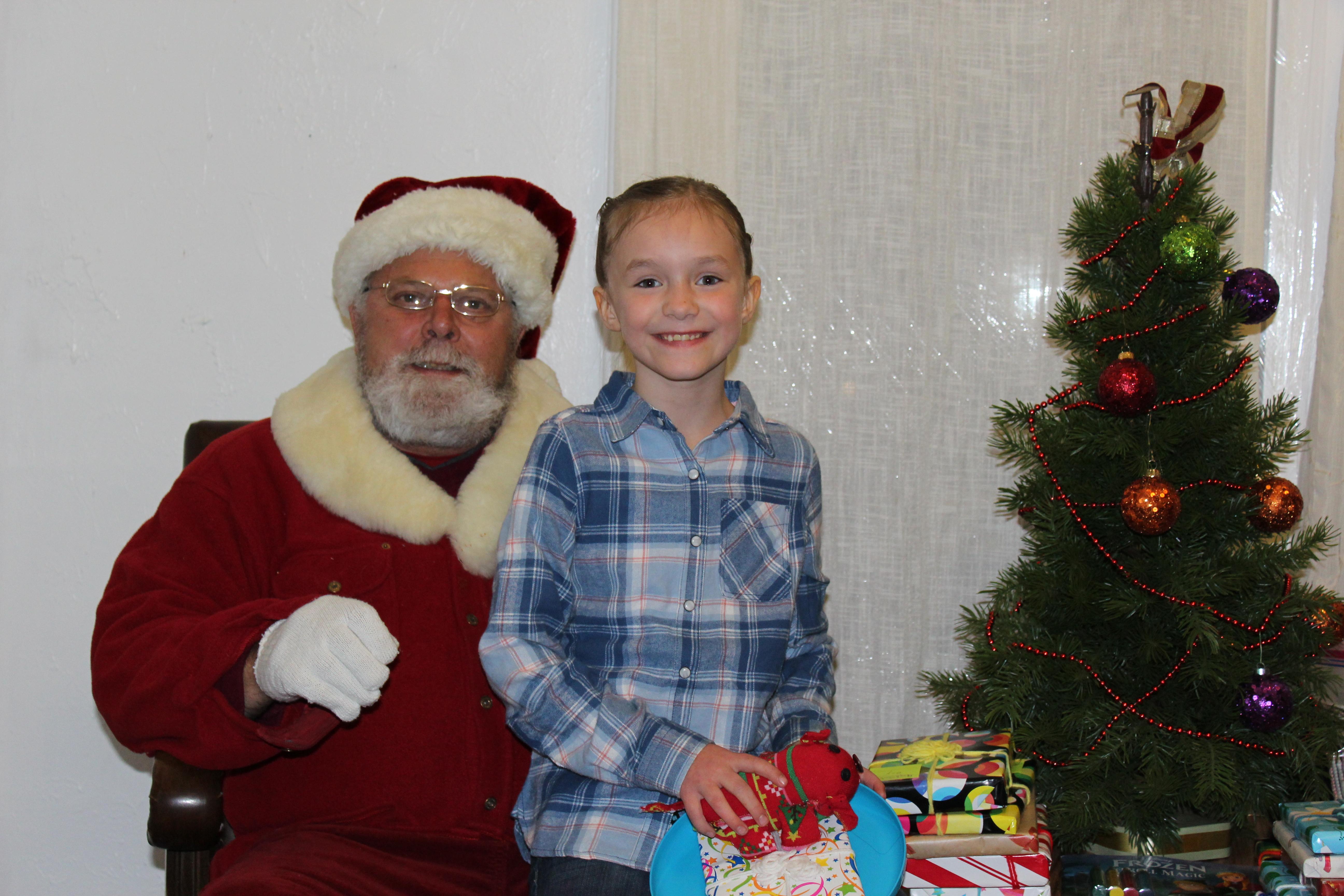 Zoey visiting with Santa