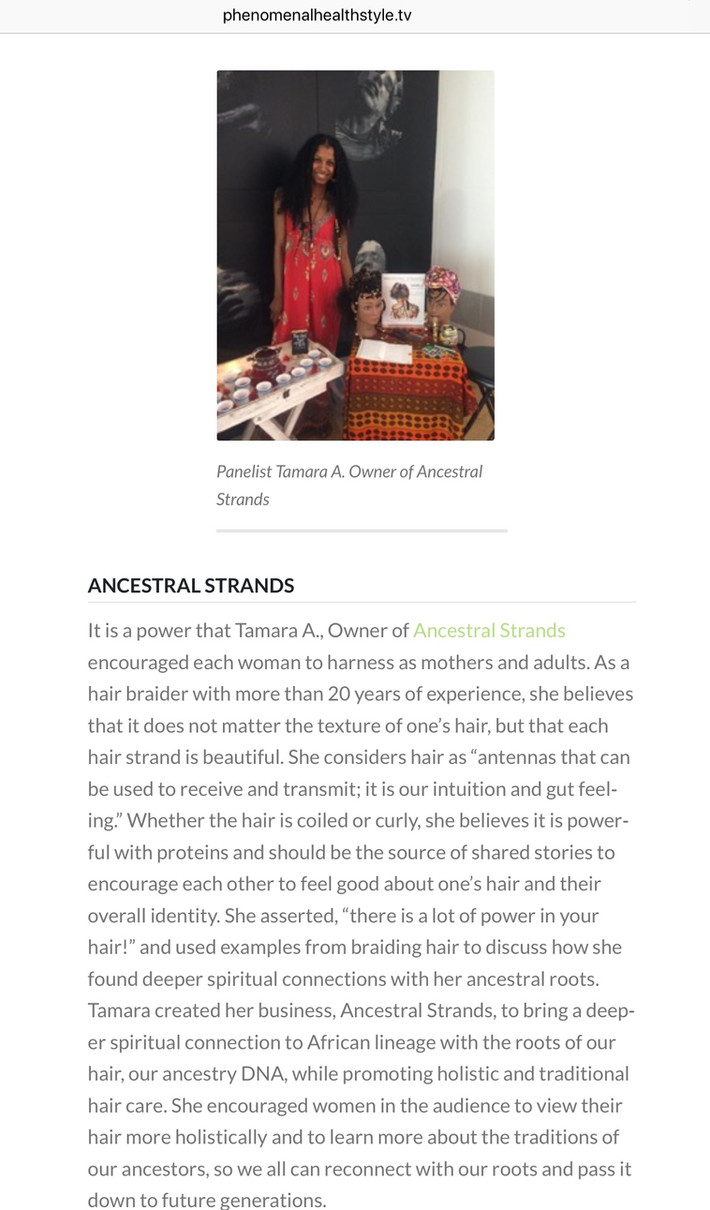 Meet the Owner of Ancestral Strands...