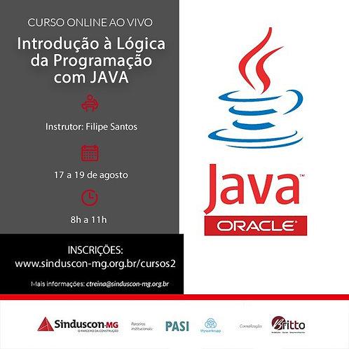 Introdução a Lógica da Programação com Java (online ao vivo)