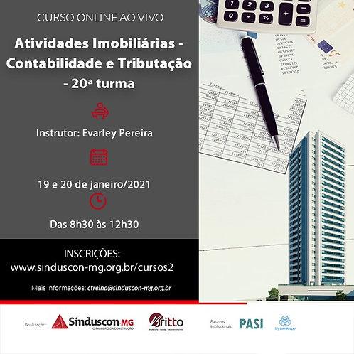 Atividades Imobiliárias - Contabilidade e Tributação - 20ª turma