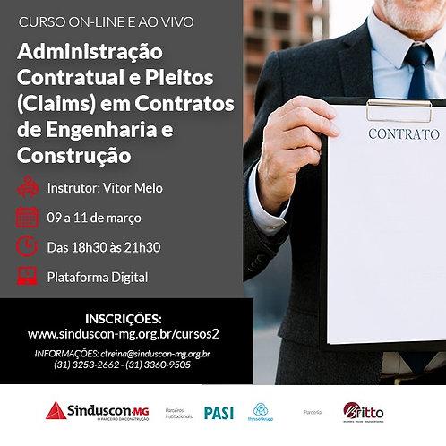 Curso de Administração Contratual e Pleitos (Claims) em Contratos de Engenharia