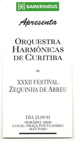 Flyer Festival Zequinha de Abreu